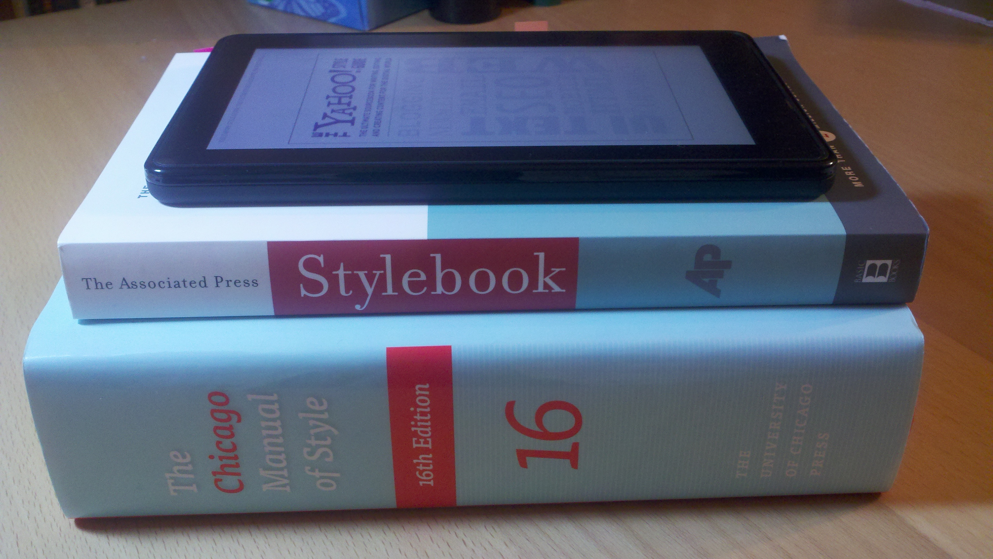 Stack of style guides